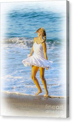 Dancing With The Waves Canvas Print by Randy Steele