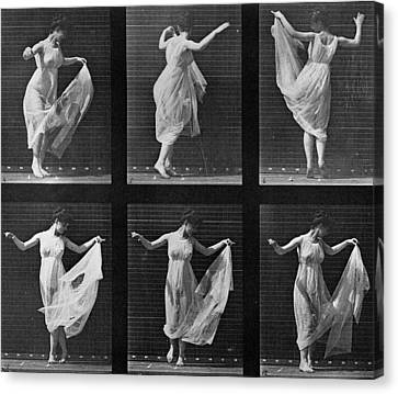 Dancing Woman Canvas Print by Eadweard Muybridge