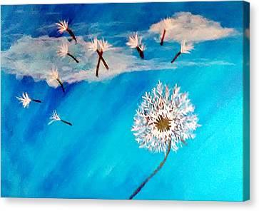 Dandelion Spirit Canvas Print by Angie Baker