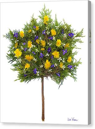 Canvas Print featuring the photograph Dandelion Violet Tree by Lise Winne