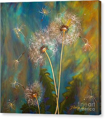 Dandelion Wishes Canvas Print
