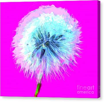 Digital Paint Flower Canvas Print - Dandylioness by Krissy Katsimbras