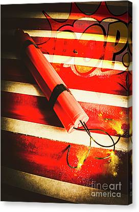 Danger Bomb Background Canvas Print by Jorgo Photography - Wall Art Gallery