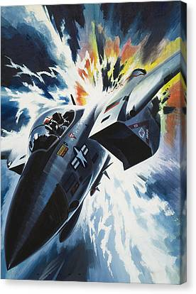 Thunder Canvas Print - Danger From The Skies by Wilf Hardy