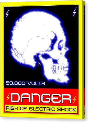 Danger High Voltage Sign Canvas Print