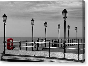 Danger - Lamp Posts Canvas Print by Hazy Apple