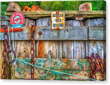 Danger Men Boating Canvas Print