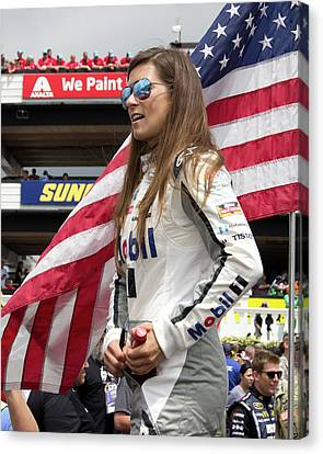 Danica Patrick #10 Canvas Print by Mark A Brown