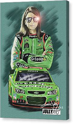Danica Patrick Canvas Print by Darren Jolly