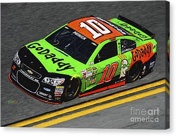 Danica Patrick Nascar At Daytona 500  Canvas Print by Garland Johnson