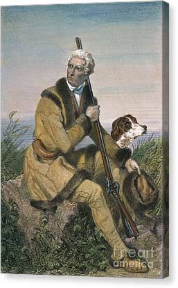 Daniel Boone (1734-1820) Canvas Print by Granger