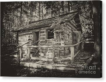 Mountain Cabin Canvas Print - Daniel Boone Cabin by Paul W Faust -  Impressions of Light