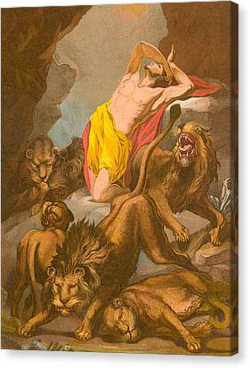 Daniel In The Lions' Den Canvas Print by James Northcote