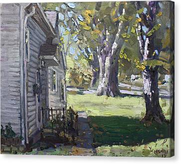 Daniel's House In Bloomington Mn Canvas Print by Ylli Haruni