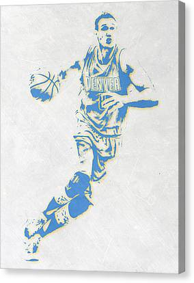 Danilo Gallinari Denver Nuggets Pixel Art Canvas Print by Joe Hamilton