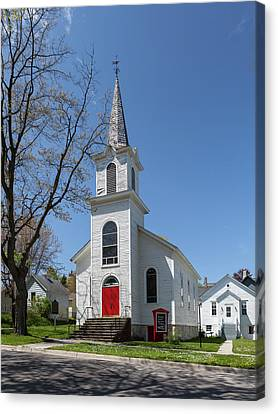 Canvas Print featuring the photograph Danish Lutheran Church by Fran Riley