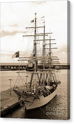 Danish Training Ship Canvas Print by Gaspar Avila