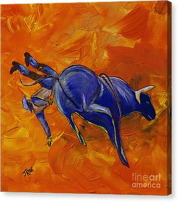 Canvas Print featuring the painting Danny At The Rodeo by Janice Rae Pariza