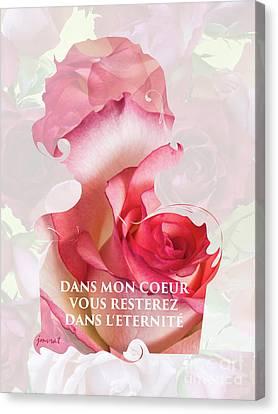 Yes Valentine Love M2 Canvas Print by Johannes Murat