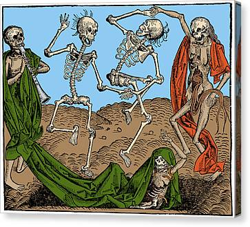 Danse Macabre 1493 Canvas Print by Science Source