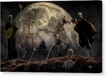 Creepy Canvas Print - Danse Macabre by Daniel Eskridge