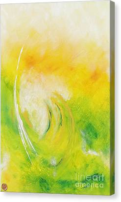 Canvas Print featuring the painting Dante by Ron Labryzz