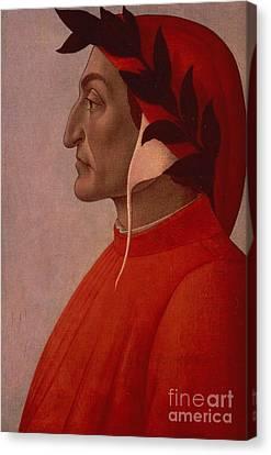 Dante Canvas Print by Sandro Botticelli