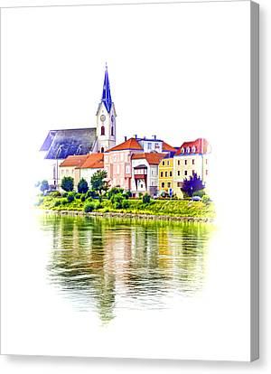 Danube Village Canvas Print by Dennis Cox WorldViews