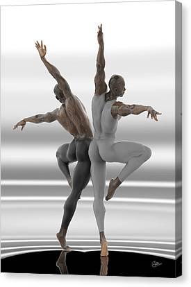 Danza En Pareja Canvas Print