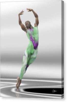 Danza En Verde Canvas Print by Joaquin Abella