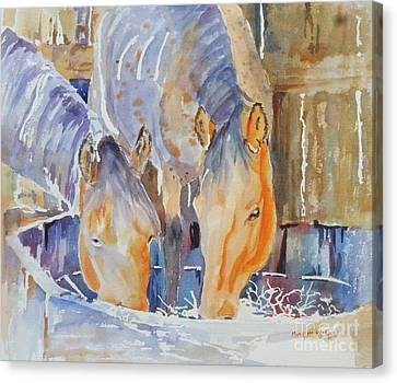 Canvas Print featuring the painting Dappled Sunlight by Mary Haley-Rocks