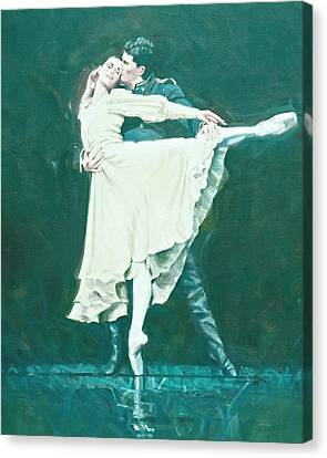 Darcey Bussell Farewell Winter Dreams Canvas Print by Charles Willmott