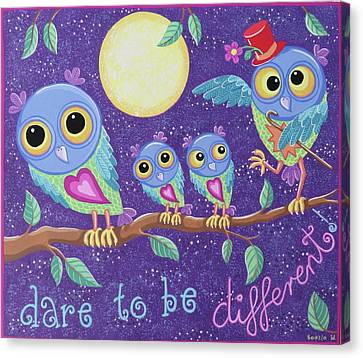 Dare To Be Different Canvas Print by Soozie Wray