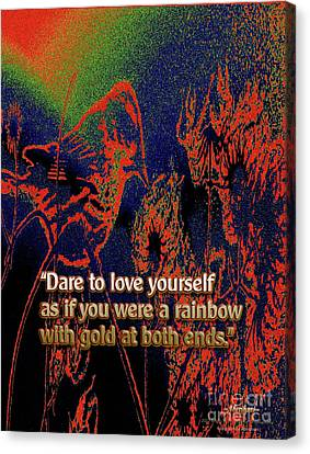 Dare To Love Yourself On National Selfie Day Canvas Print by Aberjhani