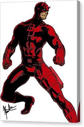 Daredevil Canvas Print by Robert Massetti