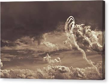 Smoke Trail Canvas Print - Daredevilry by Joseph Westrupp