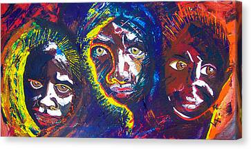 Darfur - Eyes Of The Future Canvas Print by Valerie Wolf