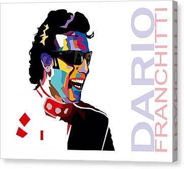 Dario Franchitti Pop Art Style Canvas Print