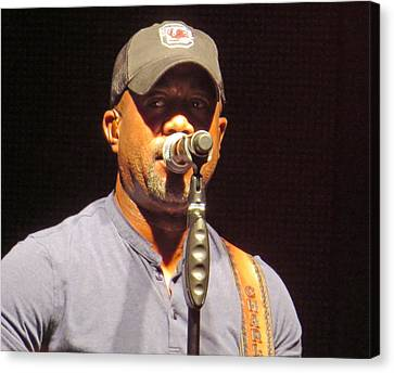 Darius Rucker Live Canvas Print by Aaron Martens