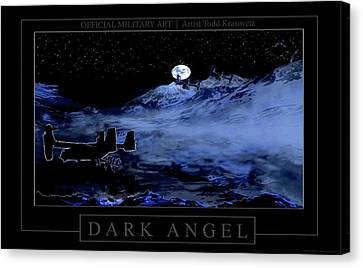 Dark Angel Canvas Print by Todd Krasovetz
