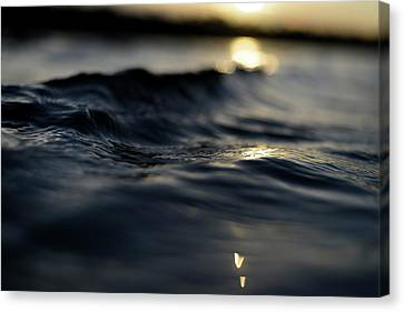 Canvas Print featuring the photograph Dark Atlantic Traces by Laura Fasulo