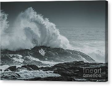 Dark Atmospheric Coastline Canvas Print by Jorgo Photography - Wall Art Gallery