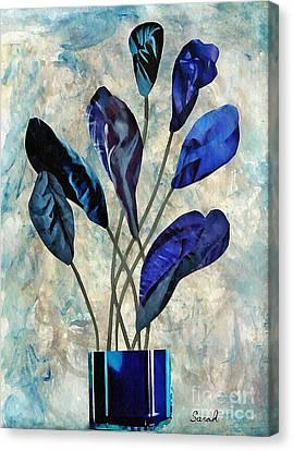 Dark Blue Canvas Print by Sarah Loft