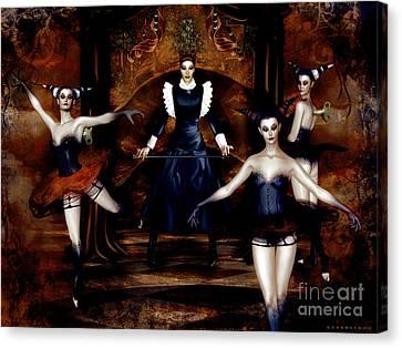 Dark Cabaret Canvas Print by Shanina Conway