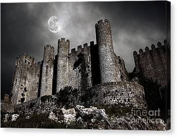 Dark Castle Canvas Print by Carlos Caetano