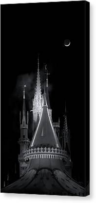Canvas Print featuring the photograph Dark Castle by Mark Andrew Thomas