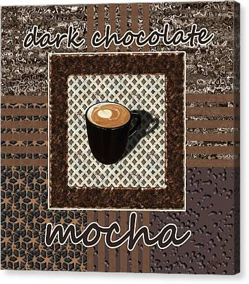 Canvas Print featuring the photograph Dark Chocolate Mocha - Coffee Art by Anastasiya Malakhova