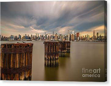 Dark Clouds Over Nyc Canvas Print
