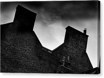 Dark Day In The Fens Canvas Print by Jez C Self
