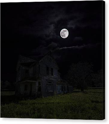 Dark Embrace Canvas Print by Aaron J Groen